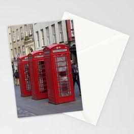 Telephone Booths Royal Mile Edinburgh Stationery Cards