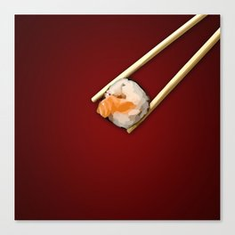 Sushi in red Canvas Print