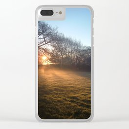 MISTY WINTER SUNRISE Clear iPhone Case