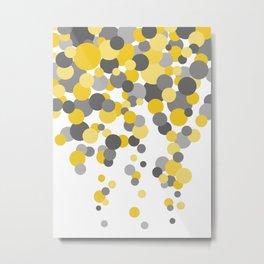 Falling Dots - Yellows and Grays Metal Print