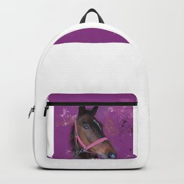 Brown Watercolour Pony Backpack
