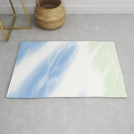 Blue Mint Tie Dye Abstract Rug