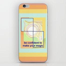 Confident Girl Creating Universal Magic Art iPhone Skin