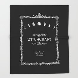 Witchcraft A Handbook of Magic Spells and Potions Throw Blanket
