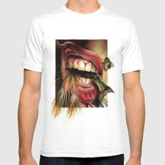 Animal Tomb  MEDIUM White Mens Fitted Tee