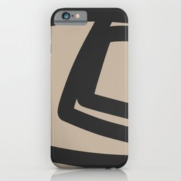 Neutral Abstract 4B iPhone Case