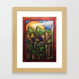ALPES MARITIMES Framed Art Print