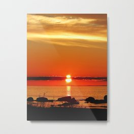 Sunset in a Northern Paradise Metal Print