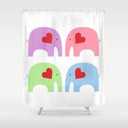 Rainbow Elephants Shower Curtain