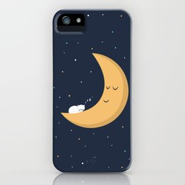 The Cat and the Moon iPhone Case