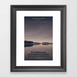 Kejimkujik National Park Framed Art Print