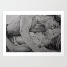 Get up for Love Art Print