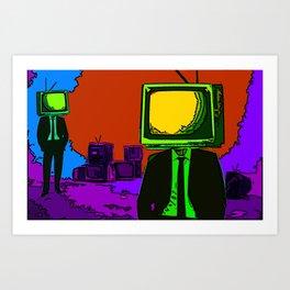 TV-Heads Art Print