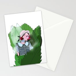 Tattooed Fairy Map to neverland Stationery Cards