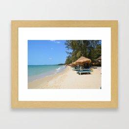 Otres Beach Sihanoukville Cambodia Framed Art Print