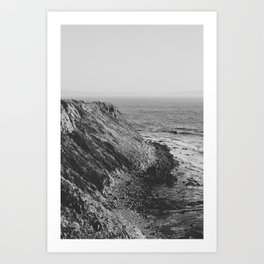 Point Vicente - California Coast - Black & White Version Art Print