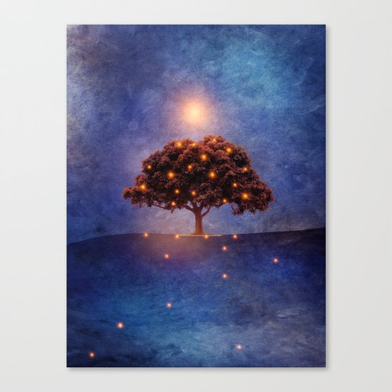 Energy & lights Canvas Print