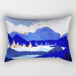 Blue Lake Rectangular Pillow