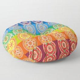 SEVEN CHAKRA SYMBOLS OF HEALING ART Floor Pillow