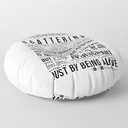 Neil DeGrasse Tyson Science Manifesto Floor Pillow