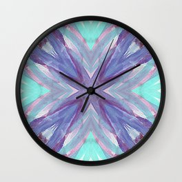 Watercolor Abstract Wall Clock