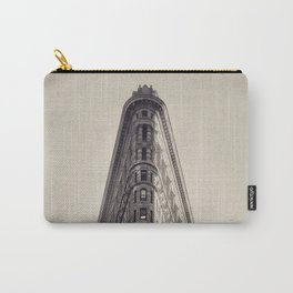 Flatiron Building, original New York photography, skyscrapers, wall decoration, home decor, nyc b&w Carry-All Pouch