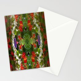 Flowers reflections on the double. Stationery Cards