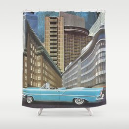 Urban Transportation Shower Curtain