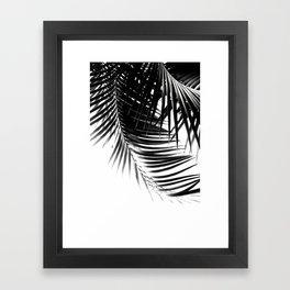 Palm Leaves Black & White Vibes #1 #tropical #decor #art #society6 Framed Art Print