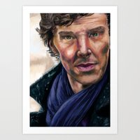 cumberbatch Art Prints featuring Benedict Cumberbatch by TCSherlockian