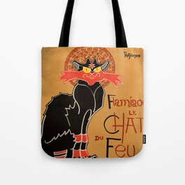 Le Chat du Feu Tote Bag