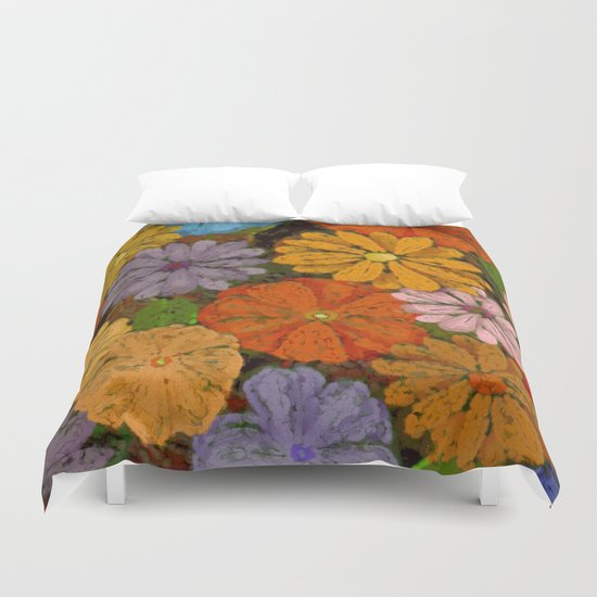 Abstract #422 Flower Power #7 Duvet Cover