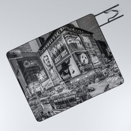 Times Square III Special Edition I (black & white) Picnic Blanket
