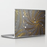 champagne Laptop & iPad Skins featuring Gold & Champagne by Kat Dermane