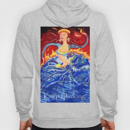 Blue Snake Arms Aflame Hoody