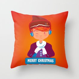 "Mikel AlfsToys say: ""Merry Christmas""  Throw Pillow"