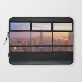 New York City Window Skyline Laptop Sleeve