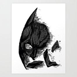Bat-man Broken Mask Art Print