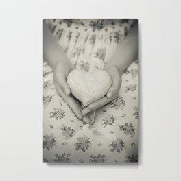 Heart in her hands Metal Print