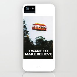 I WANT TO MAKE BELIEVE Fox Mulder x Mister Rogers Creativity Poster iPhone Case