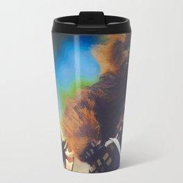 Biker Chewbacca and Yoda Travel Mug