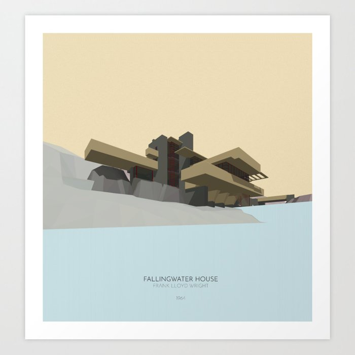 Fallingwater house Art Print