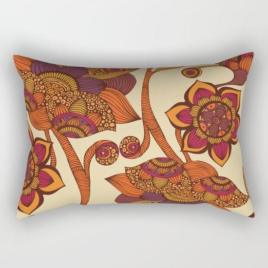 Boho Flowers Rectangular Pillow