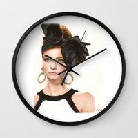 moschino Wall Clocks featuring Moschino Fall 2012 by Kafie Martin