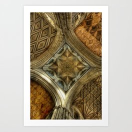 Peterborough Cathedral Roof Art Print