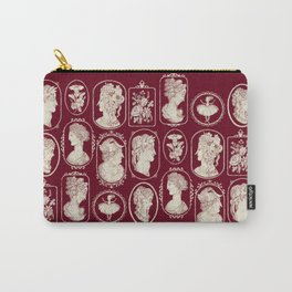 Red Cameos Carry-All Pouch