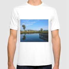 reflection of soul MEDIUM White Mens Fitted Tee