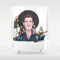 boys Shower Curtains featuring Liam's Boys by Ashley R. Guillory