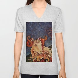 Enchanted Goat Unisex V-Neck