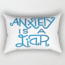 Anxiety is A Liar (light blue) Rectangular Pillow